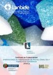 Operaciones de fabricación de fritas, esmaltes y pigmentos cerámicos
